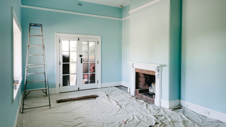 painting a room renovation